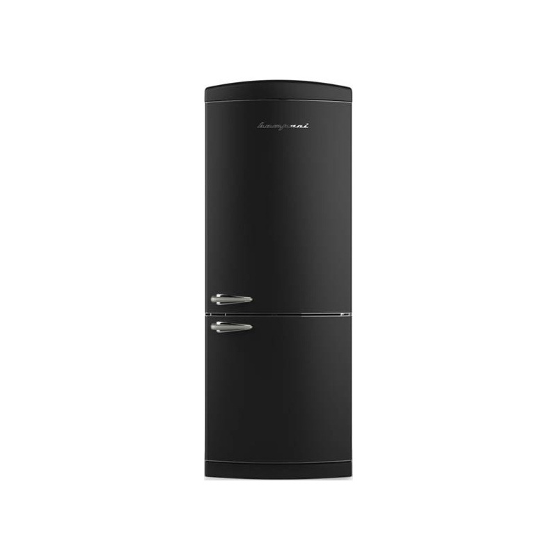 Combina Retro Bompani, Clasa A+, 415 litri, Latime 70 cm, Negru