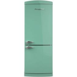 Combina Retro Bompani, Clasa A+, 415 litri, Latime 70 cm, Verde