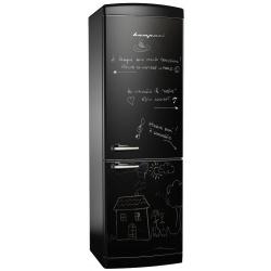 Combina frigorifica Retro Bompani BOCB681/L, Clasa A+, 316 litri, Latime 60 cm, Negru mat