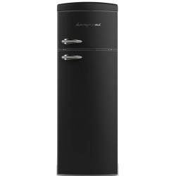 Frigider cu 2 usi Retro Bompani BODP270/N, Clasa A+, 315 litri, Latime 60 cm, Negru