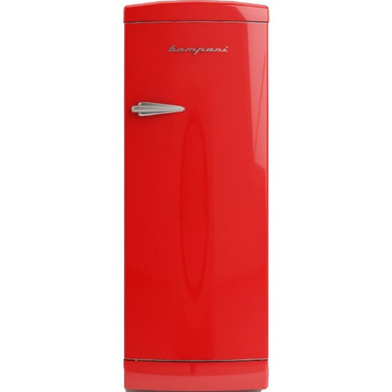 Frigider cu o usa Retro Bompani, Clasa A++, 275 litri, Latime 60 cm, Crem
