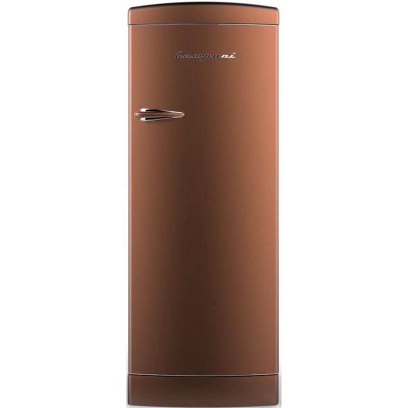 Frigider cu o usa Retro Bompani, Clasa A++, 275 litri, Latime 60 cm, Cupru