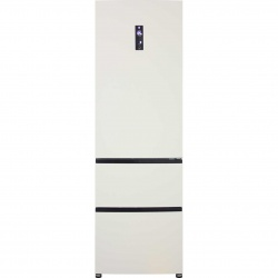Combina frigorifica Haier A2FE635CCJ, 347 l, Clasa A+, No Frost, H 190 cm, Crem