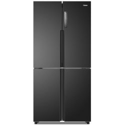 Side by Side Haier HTF-456DN6, 456 l, Clasa A+, No Frost, H 180 cm, Negru Antracit