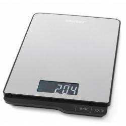 Cantar de bucatarie Zelmer ZKS15500, max 5 Kg, ecran LCD, Argintiu