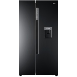 Side by Side Haier HRF-522IB6, 500 l, Clasa A+, No Frost, H 179 cm, Dispenser, Negru