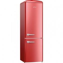 Combina frigorifica Gorenje Old Time ONRK193R, NoFrost Plus, 334 l, Clasa A+++, 194 cm, Bordo