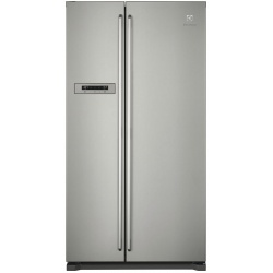 Side by side Electrolux EAL6240AOU, 577 l, Clasa A+, H 177 cm, No frost, Iluminare LED, Inox antiamprenta