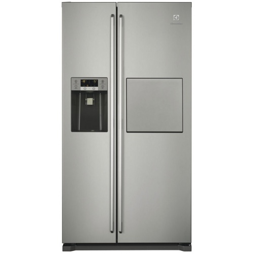Side by side Electrolux EAL6142BOX, 527 l, H 177 cm, Clasa A+, No frost, Iluminare LED, Inox antiamprenta