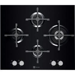 Plita incorporabila Electrolux Design X-line EGT6343LOK, Gaz, 4 Arzatoare, Aprindere electrica, Sticla Neagra