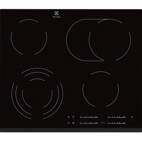 Plita incorporabila Electrolux EHF6547FXK, Ceramica, Booster, SoundOff, Timer