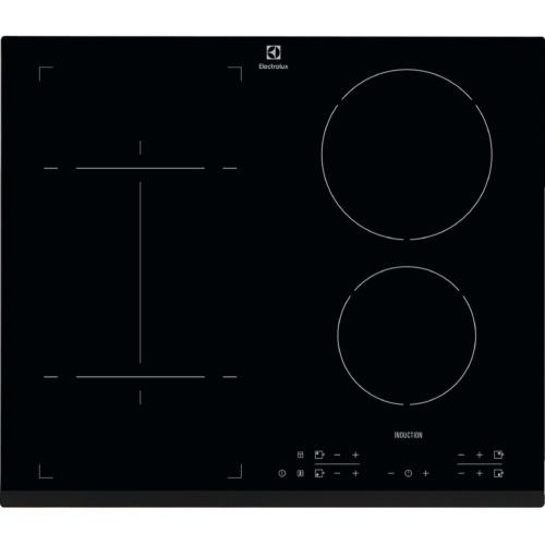 Plita incorporabila Electrolux EHI6340FOK, Inductie, 4 zone de gatit, Timer electronic, Control Touch, 60 cm, Negru