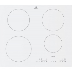 Plita incorporabila Electrolux EHH6340IOW, Inductie, 4 zone de gatit, Control Touch, Timer electronic, 60 cm, Alb
