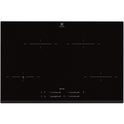 Plita incorporabila Electrolux EHR8540FHK, inductie pe toata suprafata, 78 cm, Booster 4 zone, Touch control, Timer, Negru
