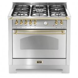 Aragaz Lofra Dolcevita RSG96MFT/CI, 90x60 cm, gaz, 5 arzatoare, grill, aprindere electronica, timer, inox