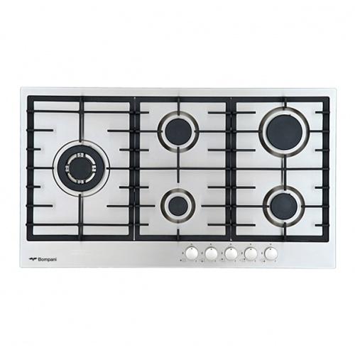 Aragaz Bompani Diva BO613ME/N, 60x60 cm, plita gaz, 4 arzatoare, aprindere electronica, grill, inox