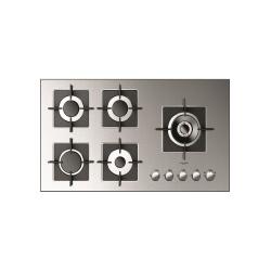 Plita incorporabila Fulgor Milano, FSH 905 G DWK XX, 90 cm, plita gaz, 5 arzatoare,sistem Stop-Gaz, butoane otel, superinox