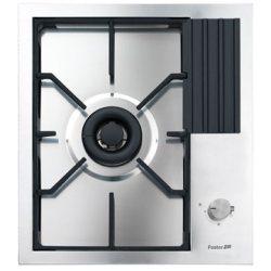 Plita incorporabila Foster S4000 Domino 7278032 , instalare Q4, gaz, 45 cm, 1 arzator, aprindere electrica, siguranta gaz, inox