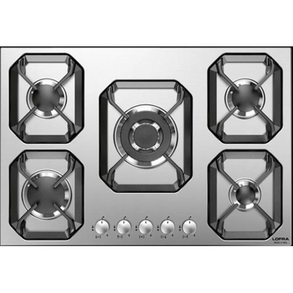 Plita incorporabila Lofra Nettuno HLS9C0, 90 cm, plita gaz, 5 arzatoare,sistem siguranta Stop-Gaz,inox