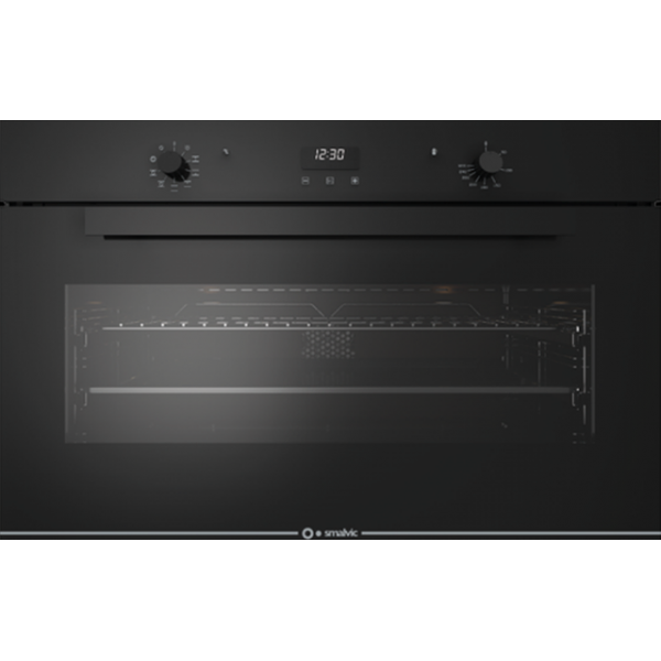 Cuptor electric incorporabil Smalvic GLASS NERO FI-95MTB, 90cm, 110l, grill electric, negru