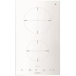 Plita incorporabila Fulgor Milano, CH 302 ID TC WH, 30 cm, plita inductie, 2 zone gatit, timmer, sticla alba