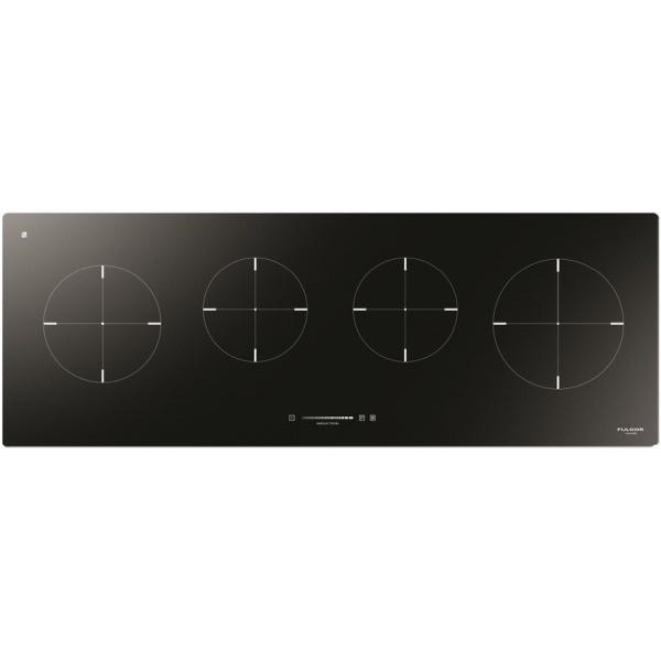 Plita incorporabila Fulgor Milano, CH 1004 ID TS BK, 80 cm, plita inductie, 4 zone gatit, booster, sticla neagra