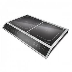 Plita cu inductie Caso ECO3400, 3400W, ceramica, dubla, negru/argintiu
