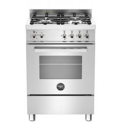 Aragaz Bertazzoni Profesional PRO604MFESXE, 60x60 cm, gaz, 4 arzatoare, cuptor electric multifunctional, inox