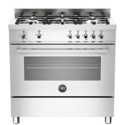 Aragaz Bertazzoni Profesional PRO905MFESXE, 90x60 cm, gaz, 5 arzatoare, cuptor electric, inox