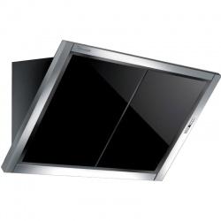 Hota design Baraldi Amy Plus 01AMYPLU120STB90, 120cm, 900 m3/h, sticla neagra/inox