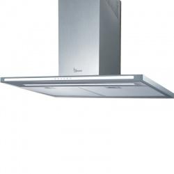 Hota design Baraldi Tecna 01LUM060STW80, 60 cm, 800 m3/h, sticla alba/inox
