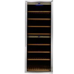 Vitrina de vinuri Caso WineMaster 180, 180 de sticle, otel inoxidabil