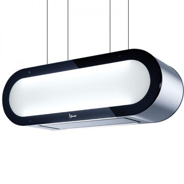 Hota design suspendata Baraldi Alexa 01ALXIS090ST80, 90 cm, 800 m3/h, sticla/inox