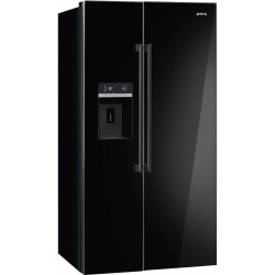 Side by side SMEG FA63X, Clasa A+, 616 litri, Latime 91 cm, total No Frost, inox