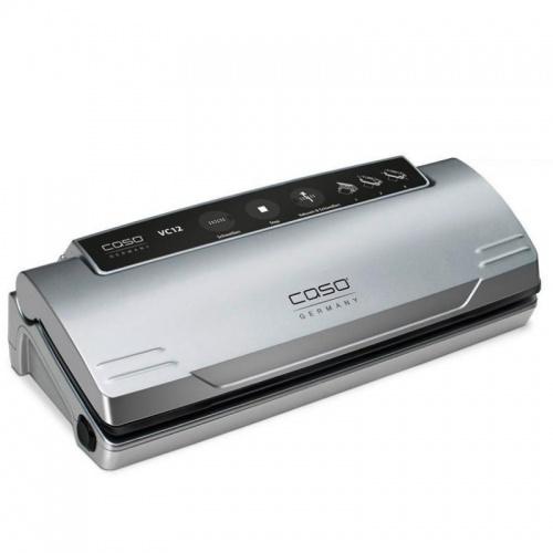 Aparat de vidat Caso VC 12,110W,controlul temperaturii electronic,argintiu/negru