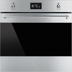 Cuptor incorporabil Smeg Classica SF6390XPZE, electric, multifunctional, 60cm,inox antiamprenta, pizza