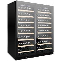 Vitrina de vinuri Nevada Concept NW258D-FG, 258 sticle, doua zone, negru