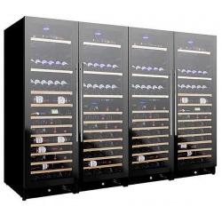 Vitrina de vinuri Nevada Concept NW548T2-FG, 548 sticle, 6 zone, negru