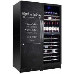 Vitrina de vinuri Nevada Coolors NW400T-SD-HR, 400 sticle, 3 zone, Negru