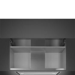 Hota incorporabila Smeg Dolce KSGT56B, 60 cm, 573 m3/h, inox/ sticla alba