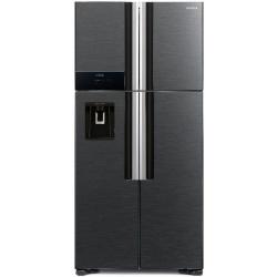 Side by Side Hitachi R-W660PRU7(BBK), Clasa A+, 540 Litri, No Frost, dispenser apa, negru stralucitor