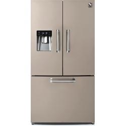 Side by Side Steel Genesi GFR9F , Clasa A+, 536L, No Frost, Dispenser Apa, Twist Ice Maker, crem inchis