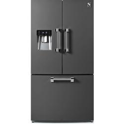 Side by Side Steel Ascot AFR9F , Clasa A+, 536L, No Frost, Dispenser Apa, Twist Ice Maker, mov