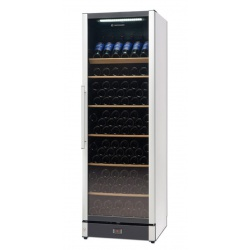 Vitrina de vinuri Tecfrigo Wine 185 Black, 197 sticle, 1 zona temperatura, negru / inox