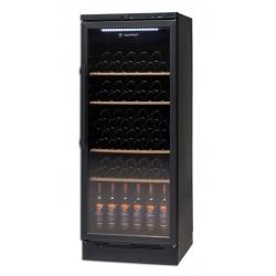 Vitrina de vinuri Tecfrigo Wine 155 Black, 146 sticle, 1 zona temperatura, negru / inox
