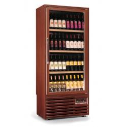 Vitrina de vinuri verticala Tecfrigo Enotec 340(1TV-P), 90 sticle, 1 zona temperatura, lemn maro