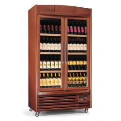 Vitrina de vinuri verticala Tecfrigo Bodega 400(4TV/1TV), 96 sticle, 1 zona temperatura, lemn maro