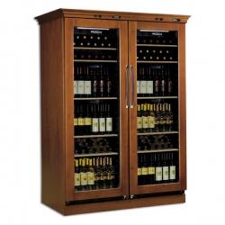 Vitrina de vinuri verticala Tecfrigo Cantinetta GLX, 106 sticle, 1 zona temperatura, finisaj lemn