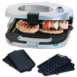 Sandwich maker 3in1 Steba SG 35,700W,negru/otel inoxidabil