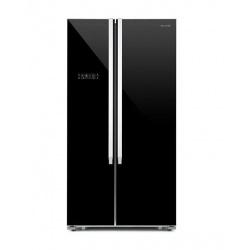 Side by Side Luxus LUX-SBSFF2-69, Clasa A++, 521L, No Frost, control digital, sticla neagra